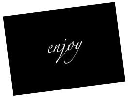 Enjoy gift card holder 270
